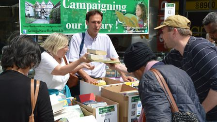 Paul Lorber says he will pledge half his MP's salary to spend on community libraries if he wins elec