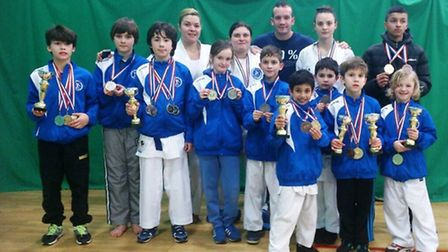 The Veras Academy squad with their medals at theUK Open Championships