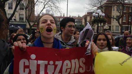 Young voter demo