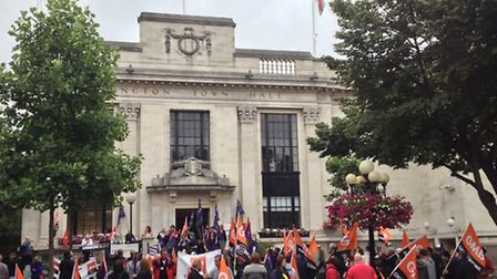The anti-racism rally is set to take place over Islington Town Hall
