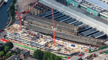 An aerial view of the King's Cross development.