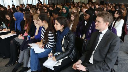 Students from Newman Catholic College attended the special event (Pic credit: Lee Thompson)