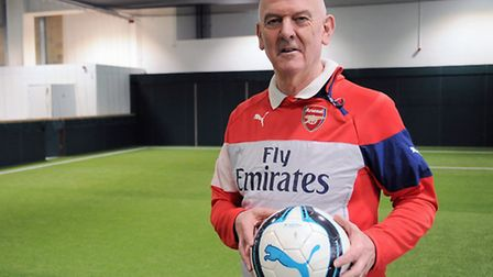 Arsenal in the Community head Alan Sefton at the new sports centre on Queensland Road