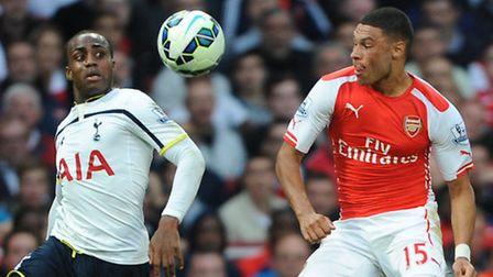 Tottenham Hotspur's Danny Rose (left) and Arsenal's Alex Oxlade-Chamberlain during September's north