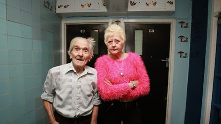 Ms White and her neighbour Thomas Turney, 94, say their hallway is the nicest in the whole building