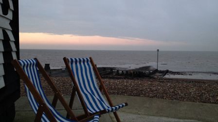 Stunning, but Whitstable in December is not the place for sunbathing