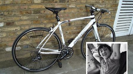 This bike is being sold on Ebay to raise money for the funeral of Alan Cartwright (inset)