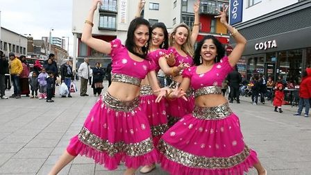 Belly dancers at Wembley Central entertainment day
