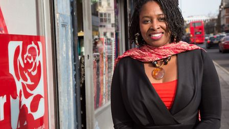 Dawn Butler outside her office in Willesden High Road