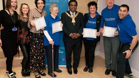 Volunteers from Mayhew Animal Home, in Trenmar Gardens were awarded by the Mayor of Brent Cllr Kana