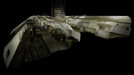 Cross section of the Mail Rail platforms - ScanLab Project