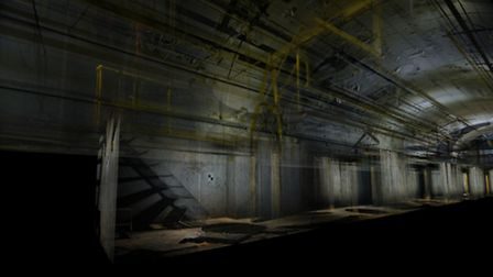 Viewing the Mail Rail car depot in layers - ScanLab Project