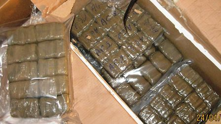 Cannabis seized by officers from NCA