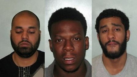 Killers (left to right): Hassan Hussain, Martell Warren and Yassin James