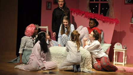 Pupils from Queens Park Community School perform Grease