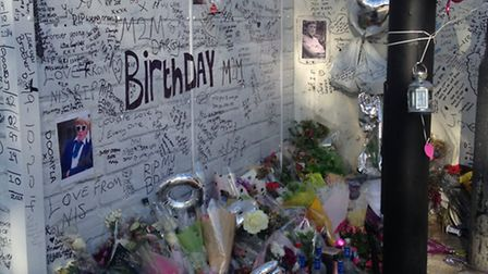 Friends have paid tribute Joe Walker at the spot where he was killed
