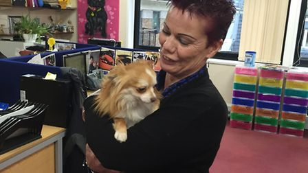 Jacky has been reunited with her beloved Frankie