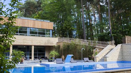 Outdoor pool at the spa