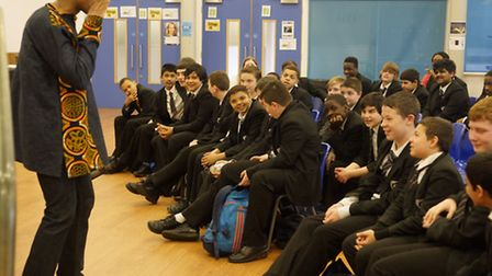 The Verbalizerwows students at Holloway School as part of their World Book Day celebrations