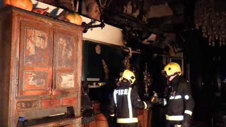 Fire damage at what is thought to be Loungelover in Shoreditch - London Fire Brigade