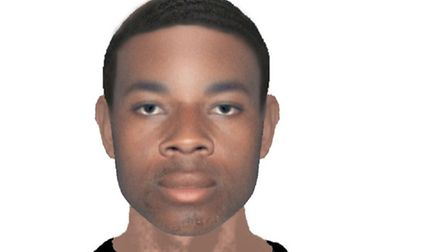 An E-fit of a man suspected of carrying out an attack in Tottenham