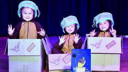 Corton's Got Talent entrants for 2019. Annabelle Jacobs, Anabelle Dunn and Darcie Green with their s