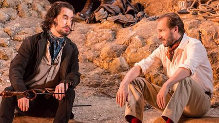 Tim McMullan and Ralph Fiennes in Man and Superman. Picture: Johan Persson