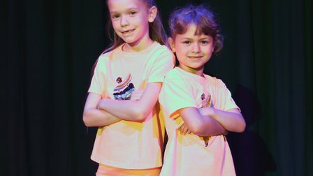 Corton's Got Talent entrants for 2019. Polly Jacobs and Isla Tabiner dancing to No Tears Left To Cry