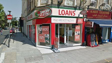 Suspects left empty handed after attemping to rob Speedy Cash in Kilburn High Road. Picture: Google