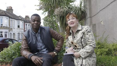 George the Poet with Rose Rouse (Pic credit: Jan Nevill)
