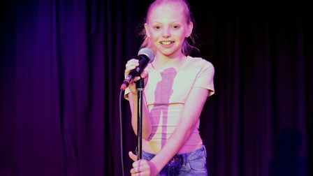 Corton's Got Talent entrants for 2019. Teyte Grant singing A Million Dreams from The Greatest Showma