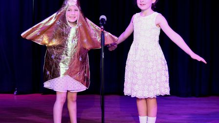 Corton's Got Talent entrants for 2019. Liberty Long and Phoebe Wing singing Twinkle Twinkle Little S