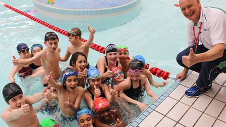 Duncan Goodhew teaches St Joseph's Primary at Archway Leisure Centre