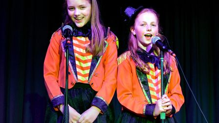 Corton's Got Talent entrants for 2019. Millie Watson and Katie Blyth singing A Million Dreams from T