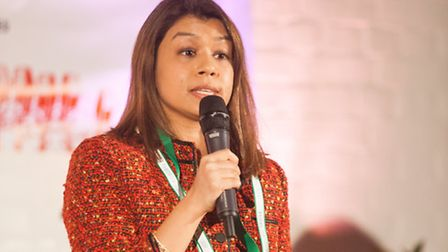 Tulip Siddiq, Labour's parliamentary candidate for Hampstead and Kilburn speaking at the South Kilbu