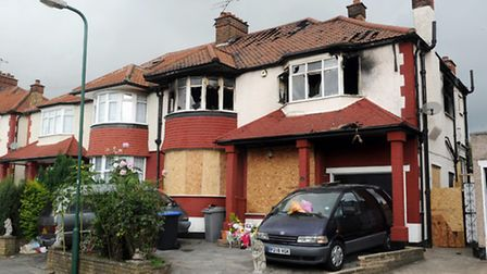 The fire in Sonia Gardens was the worst in London in more than a decade (credit: PA/Anthony Devlin)