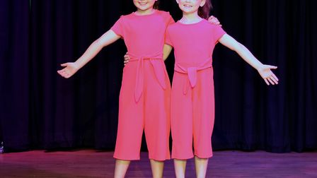 Corton's Got Talent entrants for 2019. Holly Cubitt and Freya Smith singing Count on Me by Bruno Mar
