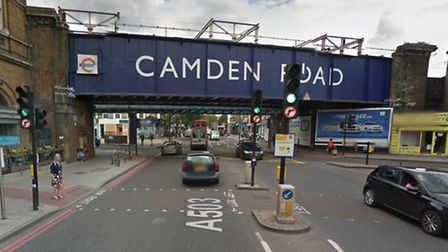 Camden Road at the junction with Royal College Street where Argon Gashi died following a collision w