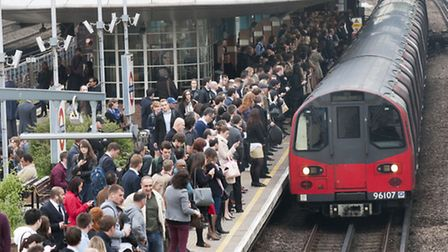 Large queues for trains at West Hampstead Tube Station during the Tube strike on 29.04.14. Picture: