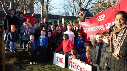 Children and staff of Stonebridge Adventure Playground in Shakespeare Avenue have been given news of