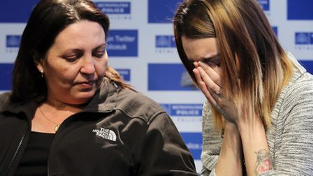 Michelle Watson, 39, and Cherrie Smith, 21, the mother and sister of murdered school boy Alan Cartwr