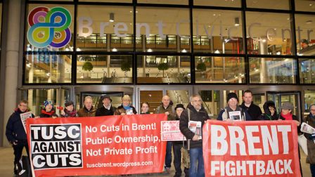Brent Fightback and Trade Union representatives are among the campaigners protesting against Brent C