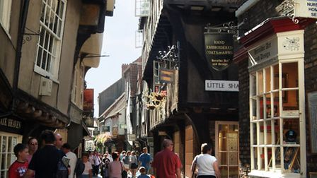 The Shambles offers some well-preserved 14th century architecture