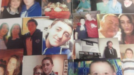 Photos of Alan, family and friendshanded out in a booklet at the funeral