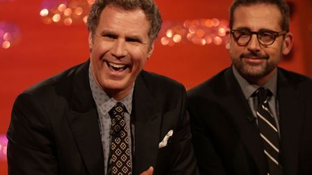 Will Ferrell and Steve Carell (pictured appearingon the New Year's Eve Graham Norton Show) are just