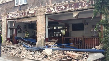 The pub still had all its contents inside (Pic credit: Mike Cunningham)