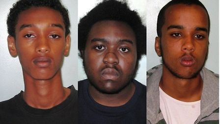 Left to right: Daud, Ennis and Koshin have been jailed for life