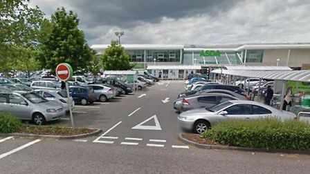 D'Costa approached a young girl in this car park [Photograph from Google StreetView]
