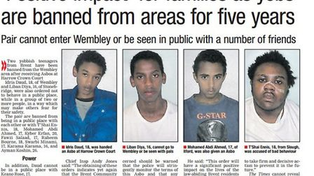 Daud and Ennis were served with an Asbo in 2013