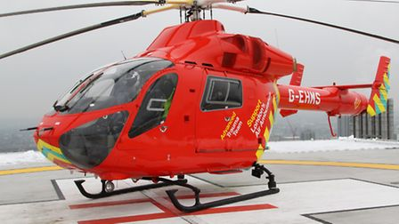 Air ambulance crews were called to the scene of the crash this morning